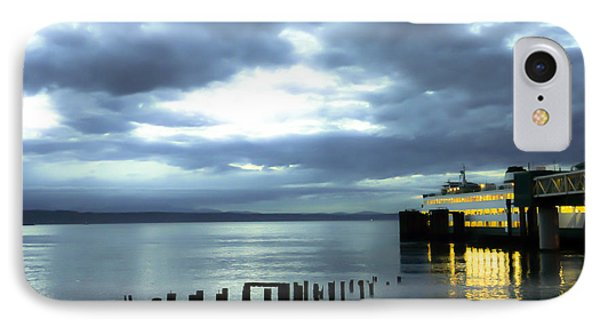Waiting For The Ferry IPhone Case by Ronda Broatch
