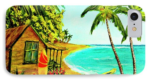 Waiting For The Waves Hawaii #387  Phone Case by Donald k Hall