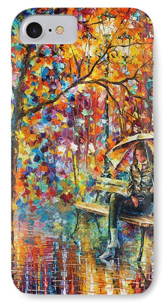 Waiting In The Rain Phone Case by Leonid Afremov