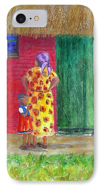 Waiting In Zimbabwe IPhone Case by Patricia Beebe