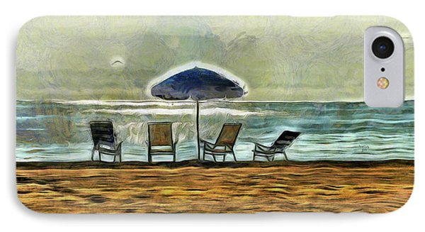 IPhone Case featuring the mixed media Waiting On High Tide by Trish Tritz