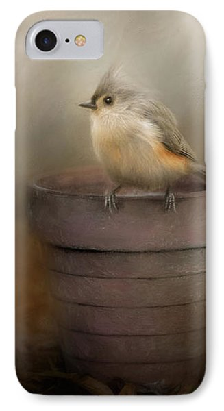 Waiting On Spring Songbird Art IPhone Case by Jai Johnson