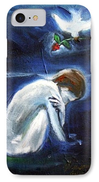 IPhone Case featuring the painting Waiting by Winsome Gunning