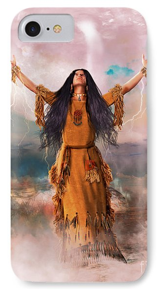 Wakan Tanka The Great Spirit IPhone Case by Shanina Conway