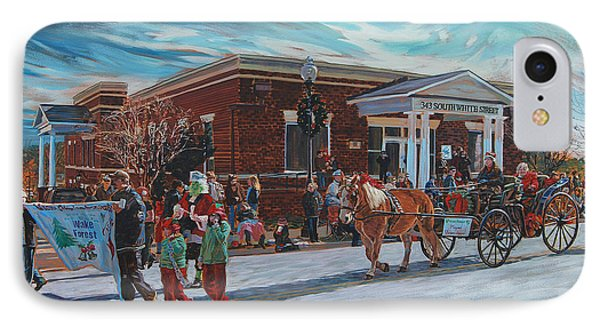 Wake Forest Christmas Parade Phone Case by Tommy Midyette