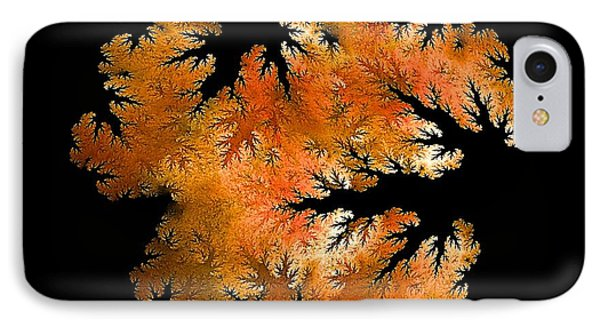 Waking In Mandelbrot Forest-2 IPhone Case by Doug Morgan