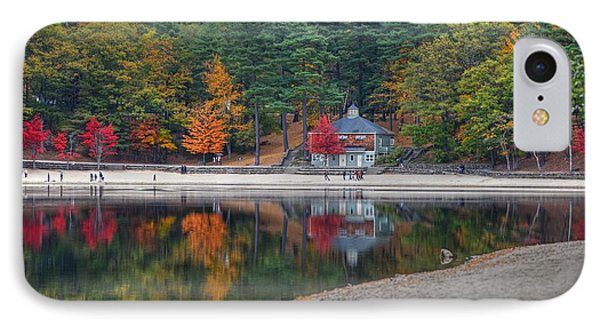 Walden Pond Bath House Concord Ma Beach IPhone Case by Toby McGuire