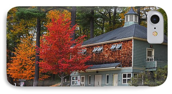 Walden Pond Bath House Concord Ma IPhone Case by Toby McGuire