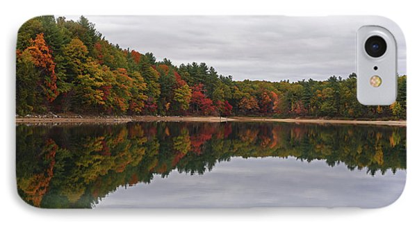 Walden Pond Fall Foliage Concord Ma Reflection Trees IPhone Case by Toby McGuire