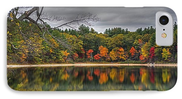 Walden Pond Fall Foliage Concord Ma IPhone Case by Toby McGuire