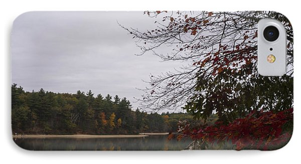 Walden Pond Fall Foliage Le 2aves Concord Ma IPhone Case by Toby McGuire