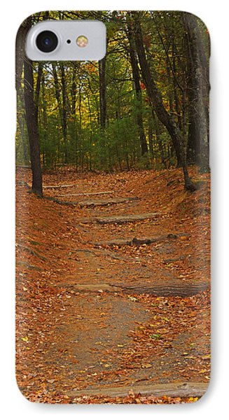 Walden Pond Path Into The Forest IPhone Case by Toby McGuire