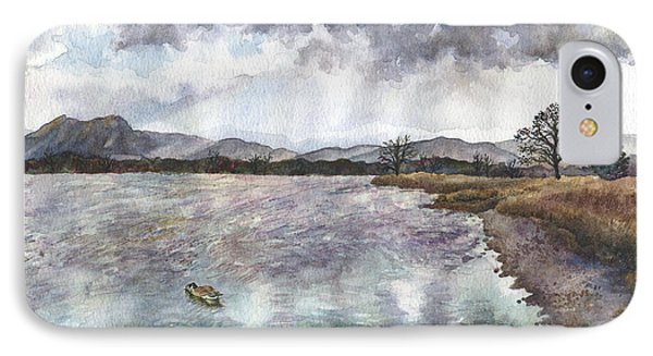IPhone Case featuring the painting Walden Ponds On An April Evening by Anne Gifford