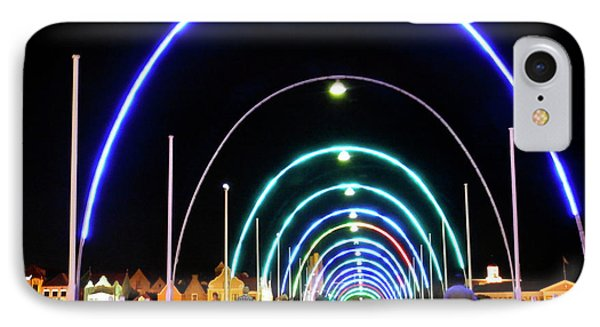 IPhone Case featuring the photograph Walk Along The Floating Bridge, Willemstad, Curacao by Kurt Van Wagner
