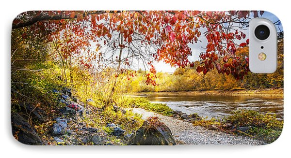 Walk Along The River IPhone Case by Debra and Dave Vanderlaan