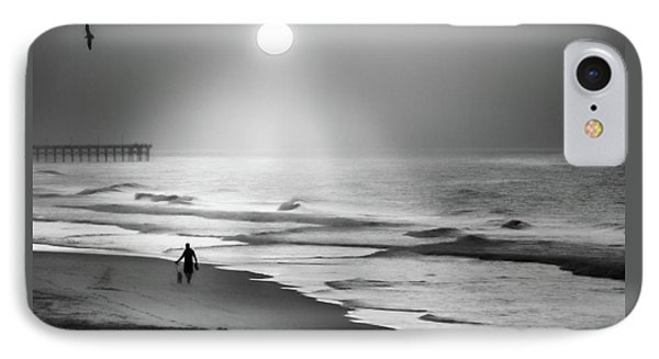 IPhone Case featuring the photograph Walk Beneath The Moon by Karen Wiles