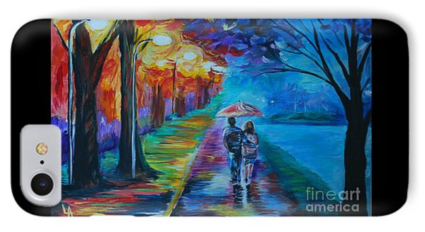 IPhone Case featuring the painting Walk By The Lake  by Leslie Allen