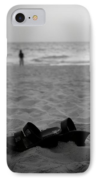 Walk On The Beach IPhone Case by Sebastian Musial