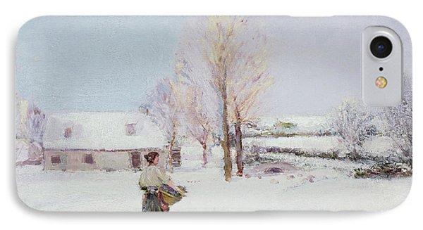 Walk Through The Snow IPhone Case by Walter McAdam
