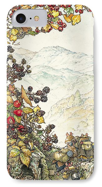 Walk To The High Hills IPhone Case by Brambly Hedge