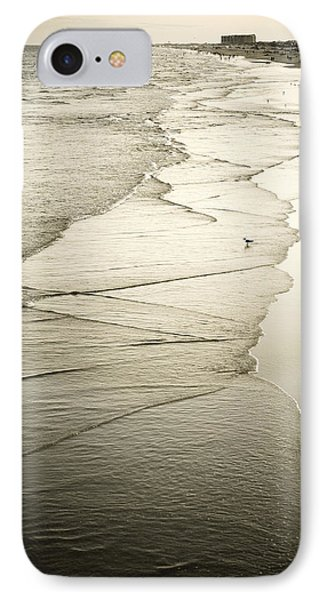 Walking Along The Beach At Sunrise Phone Case by Marilyn Hunt