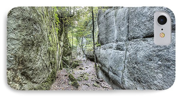Mountain iPhone 7 Case - Walking Between Rock Walls by Marc Garrido
