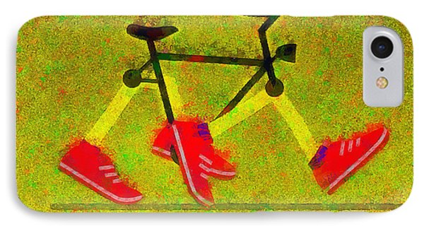Walking Bike - Pa IPhone Case by Leonardo Digenio