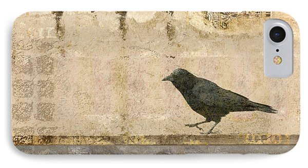 IPhone Case featuring the photograph Walking Crow by Carol Leigh