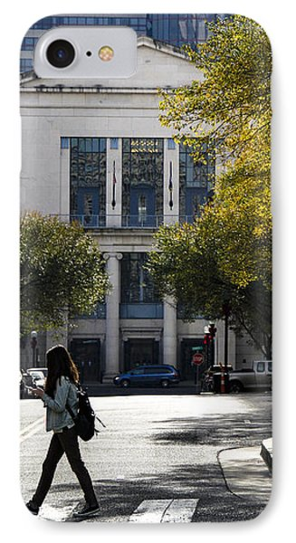 Walking Downtown IPhone Case by Marina McLain