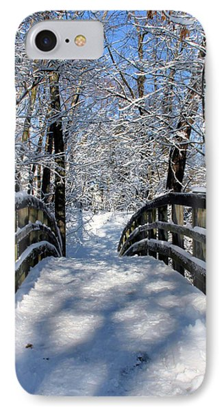 Walking In A Winter Wonderland Phone Case by Kristin Elmquist