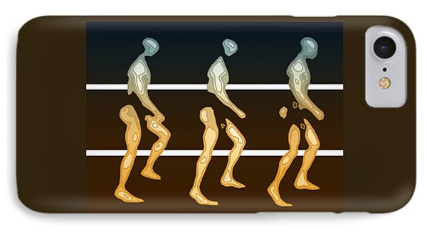 Walking In Line IPhone Case by Joaquin Abella