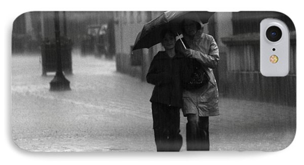 IPhone Case featuring the photograph Walking In The Rain by Gabor Pozsgai
