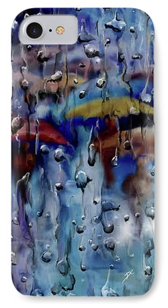 IPhone Case featuring the digital art Walking In The Rainfall by Darren Cannell