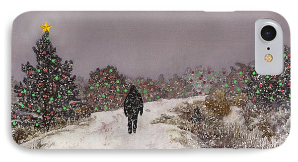 IPhone Case featuring the painting Walking Into The Light by Anne Gifford