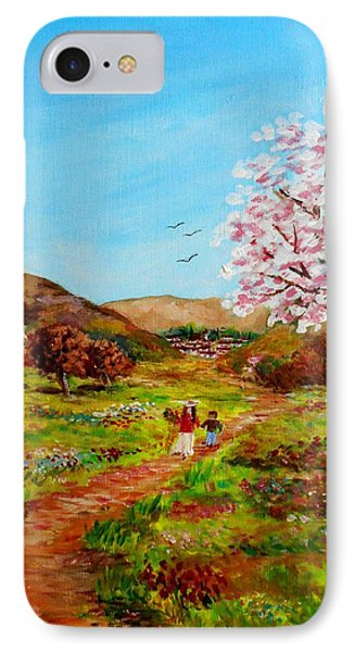 Walking Into The Springfields Phone Case by Constantinos Charalampopoulos