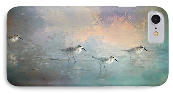 Sandpiper iPhone 7 Case - Walking Into The Sunset by Marvin Spates