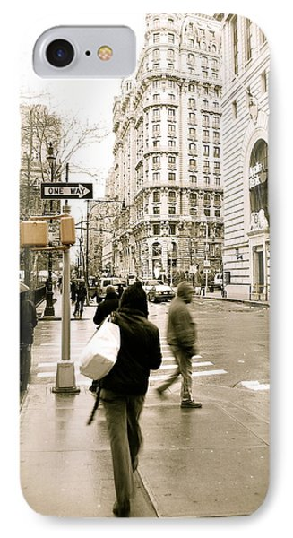 Walking New York Phone Case by Michael Peychich