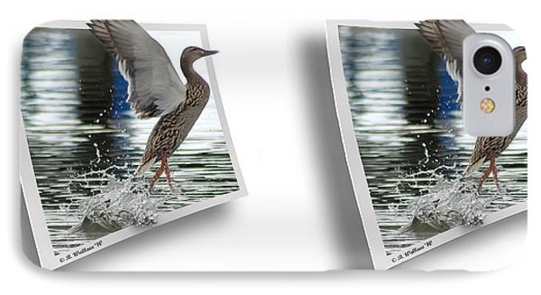 Walking On Water - Gently Cross Your Eyes And Focus On The Middle Image Phone Case by Brian Wallace