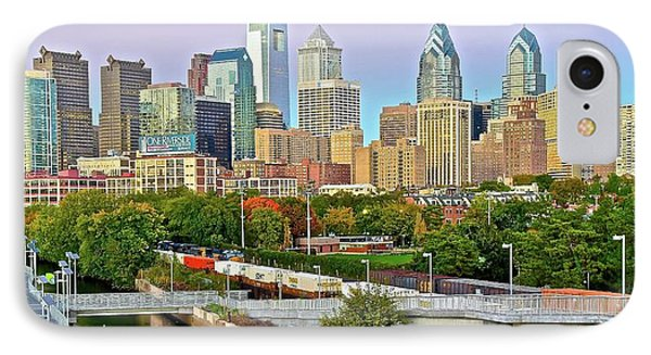 Walking Path To Philadelphia IPhone Case by Frozen in Time Fine Art Photography