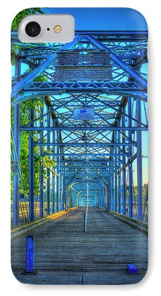 Walking Tall Walnut Street Pedestrian Bridge Art Chattanooga Tennessee IPhone Case