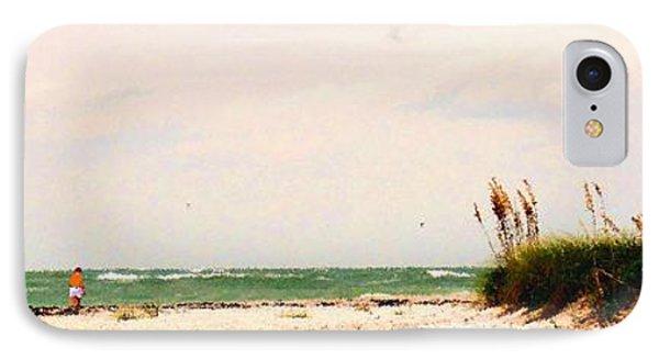 Walking The Beach Phone Case by Ian  MacDonald