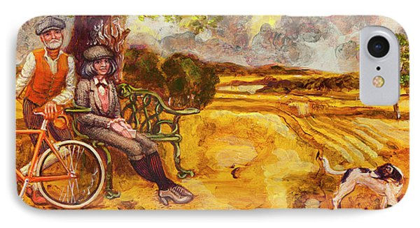 Walking The Dog After Gainsborough IPhone Case by Mark Jones