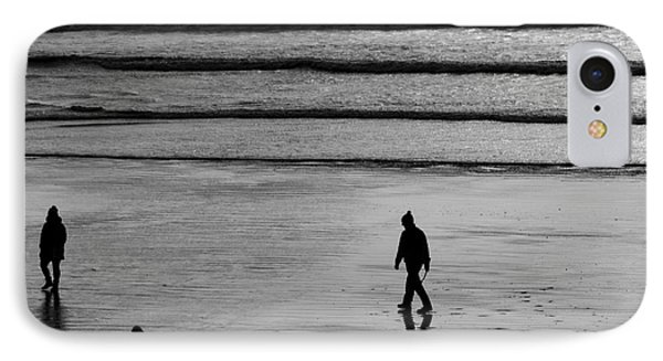 IPhone Case featuring the photograph Walking The Dog At Marazion by Brian Roscorla