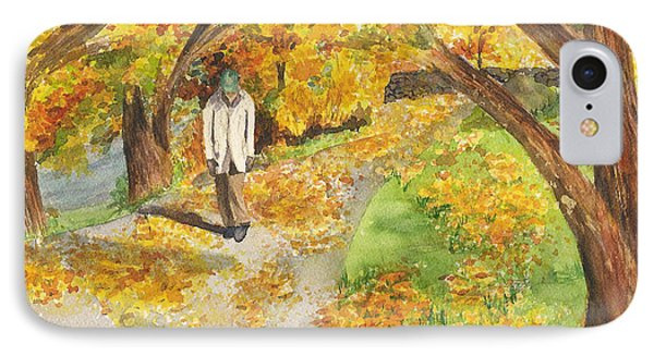Walking The Truckee River IPhone Case by Vicki  Housel