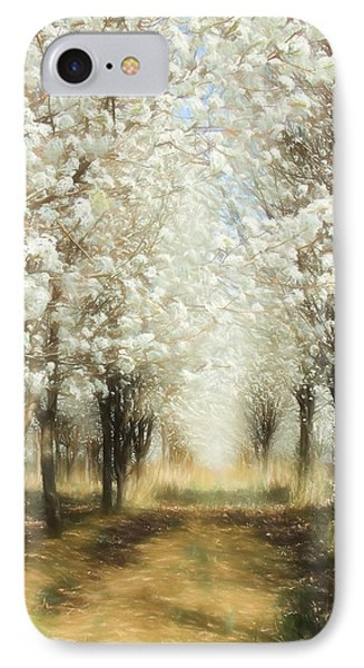 IPhone Case featuring the painting Walking Through A Dream Ap by Dan Carmichael