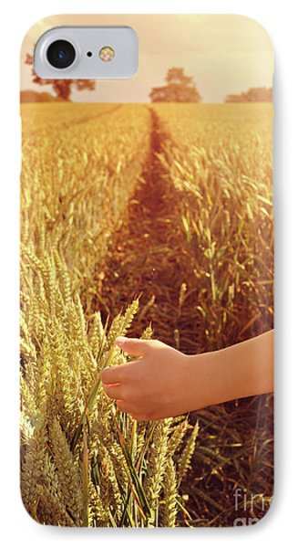 IPhone Case featuring the photograph Walking Through Wheat Field by Lyn Randle