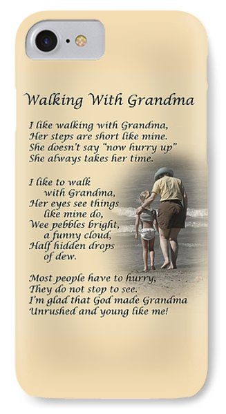 Walking With Grandma IPhone Case by Dale Kincaid