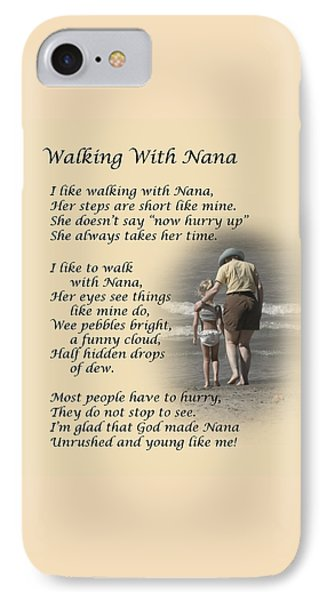 Walking With Nana IPhone Case by Dale Kincaid