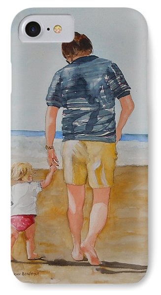 Walking With Pops Phone Case by Jean Blackmer