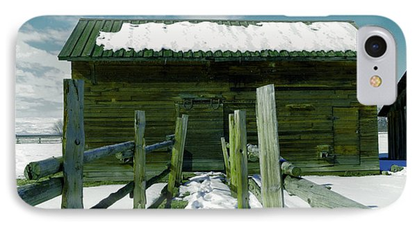 IPhone Case featuring the photograph Walkway To An Old Barn by Jeff Swan